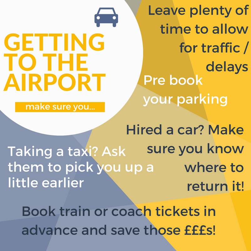 Planning your trip to the airport? Make travel allowances for traffic jams, delays and book parking, taxis or other transport in advance for the best rates